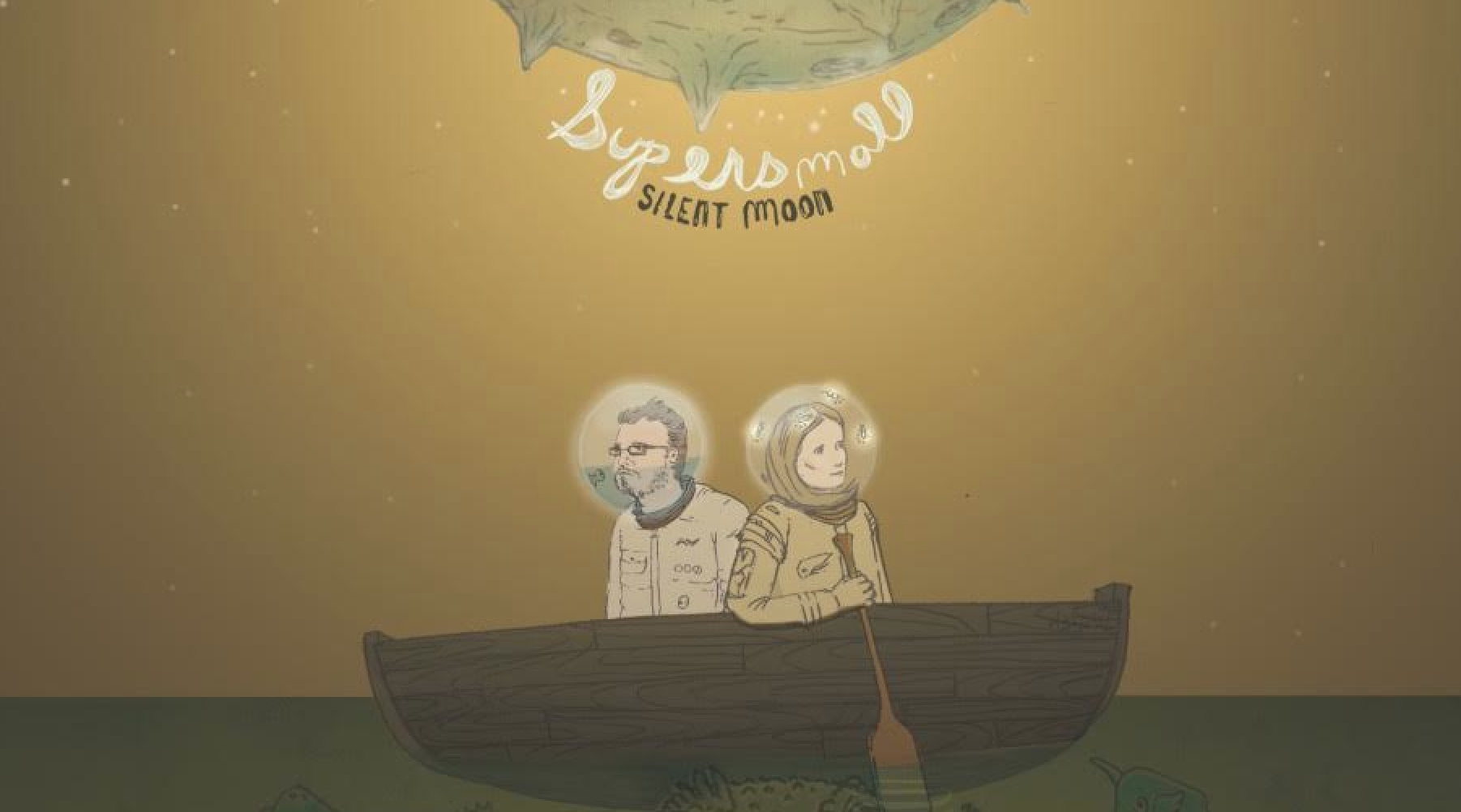 NYC folk-rock duo Supersmall premiere debut LP 'Silent Moon'
